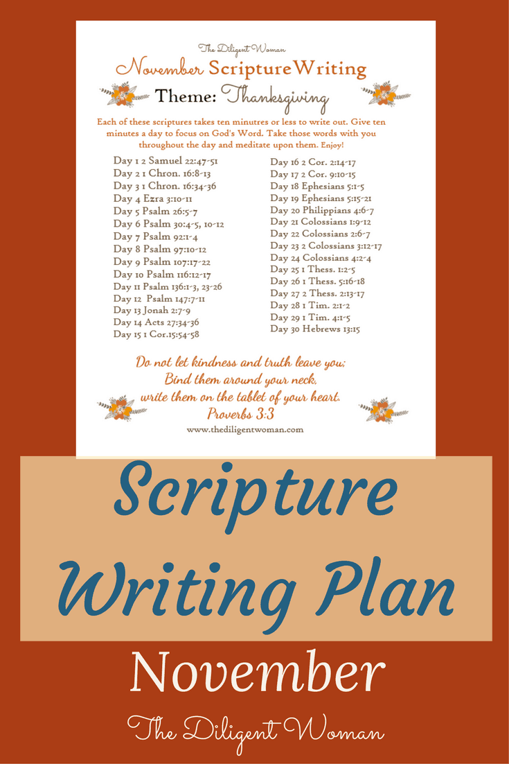 God's people should be a people full of gratitude. Join us in writing scriptures that teach us what all we have to be thankful for.