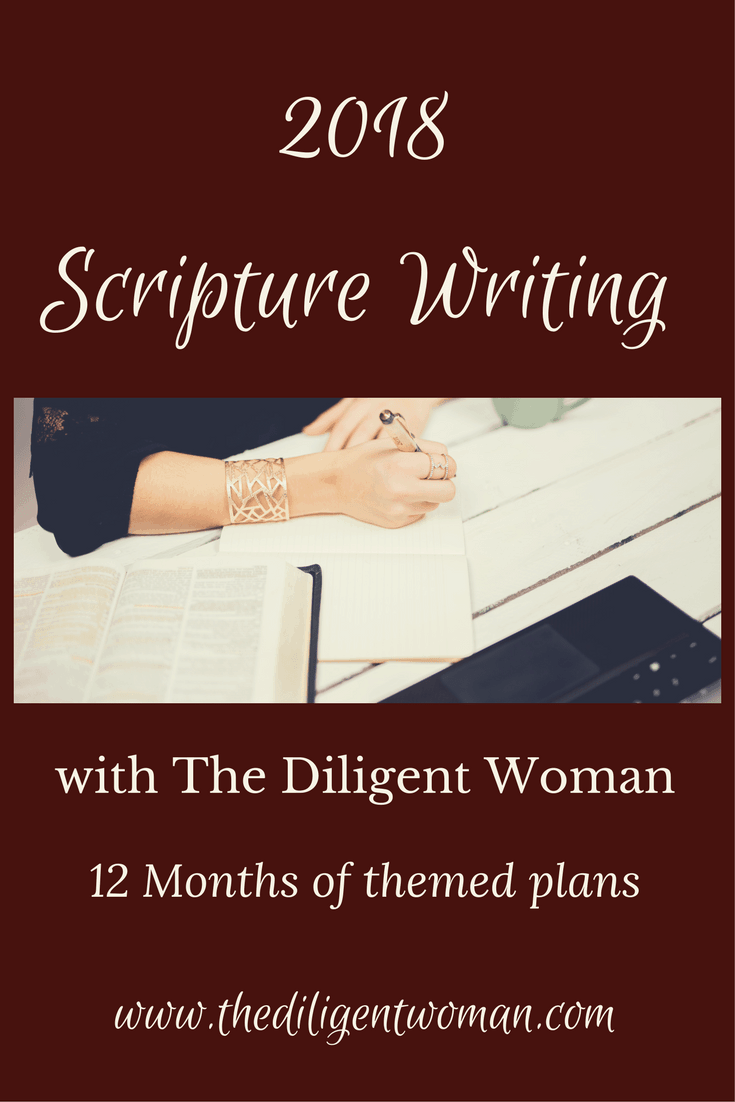Looking for themed Scripture Writing plans? Here you will find twelve month's worth of deep topical study. Join us as we write God's word on the tablet of our hearts.