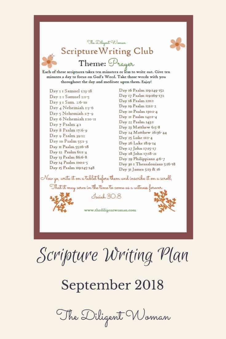 Join us as we delve deeper into Prayer through Scripture Writing!